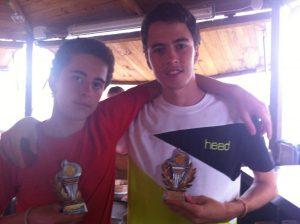Foto de Diego y Javier Vázquez Campeón y subcampeón cadete